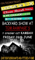 2009-06-26: Backyard Show Flyer